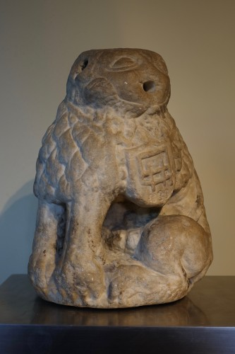 Marble lion – Périgord 17th century - Sculpture Style