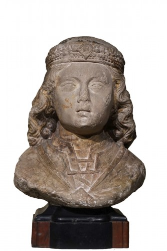 Bust of a young nobleman - North of France, probably Normandy - XV century