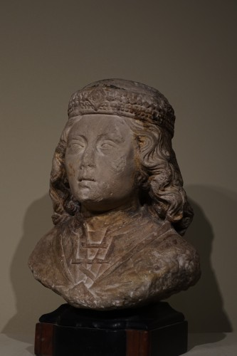 Bust of a young nobleman - North of France, probably Normandy - XV century - Sculpture Style Middle age