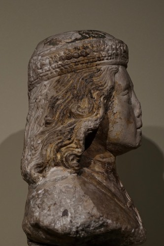 Sculpture  - Bust of a young nobleman - North of France, probably Normandy - XV century
