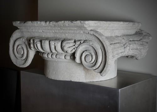 Roman ionic column capital - 2nd century A.D. - Ancient Art Style