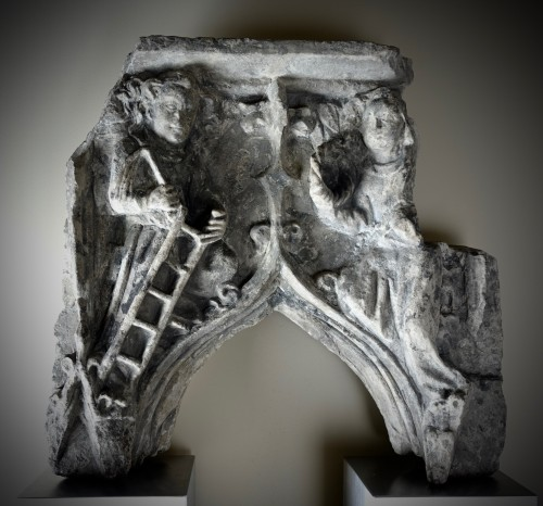 Element of gothic architecture - France or Flanders, XV century - Sculpture Style Middle age