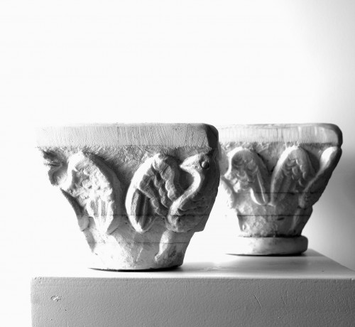 Collection of five small marble capitals - Italy, XVIII-XIX century - Architectural & Garden Style