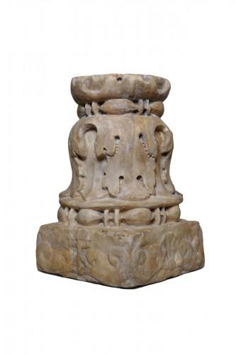 Renaissance marble column - Florence, 15th century