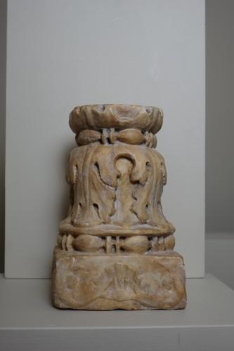 Renaissance marble column - Florence, 15th century - Sculpture Style Renaissance
