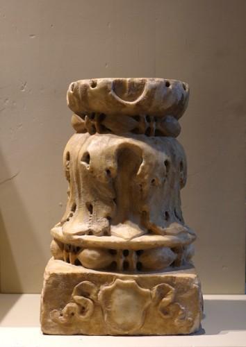 Sculpture  - Renaissance marble column - Florence, 15th century