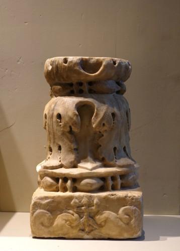 Renaissance marble column - Florence, 15th century -