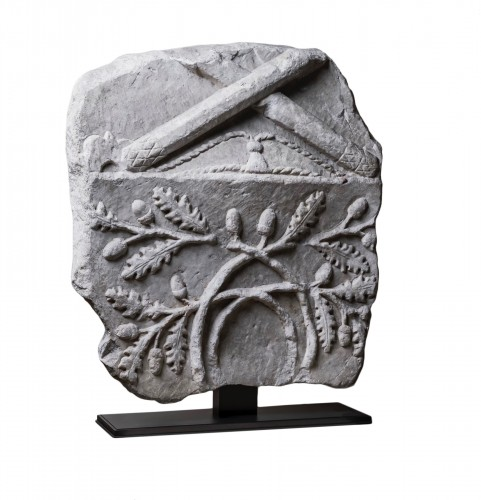Large Roman marble fragment - Roman art, 1st-2nd century A.D.