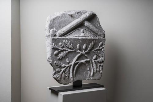 Large Roman marble fragment - Roman art, 1st-2nd century A.D.  - Ancient Art Style