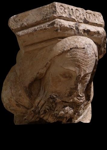 Saint Nicolas - Ile de France, XIII century - Sculpture Style Middle age
