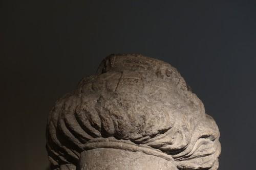 BC to 10th century - Monumental feminine head - Roman Empire (Palmira?) - 3rd-4th century AD