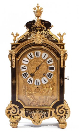 Louis XIV mantel Clock by Goret Pierre in Paris