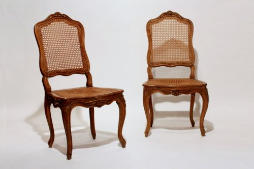 Pair of Louis XV caned chairs