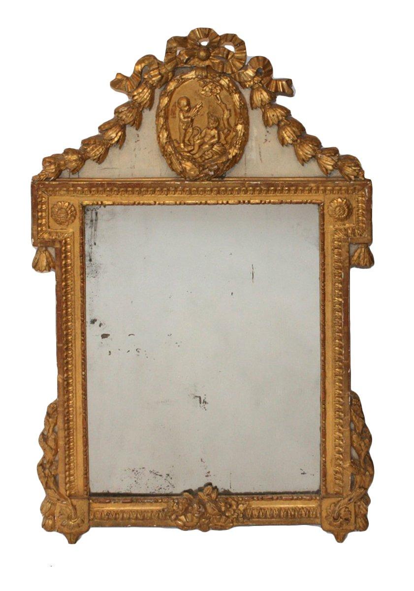 Miroir louis xvi xviiie si cle for Miroir louis xvi