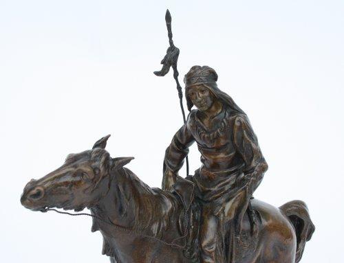Bronze by Antoine Bofill - Le dernier d'une race - Sculpture Style Napoléon III