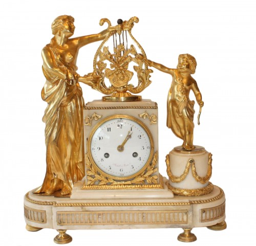 A Louis XVI mantle clock