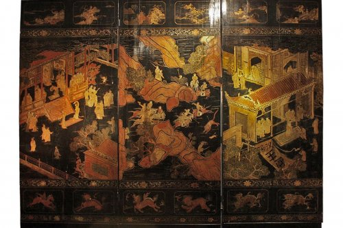 Chinese screen from 17° century
