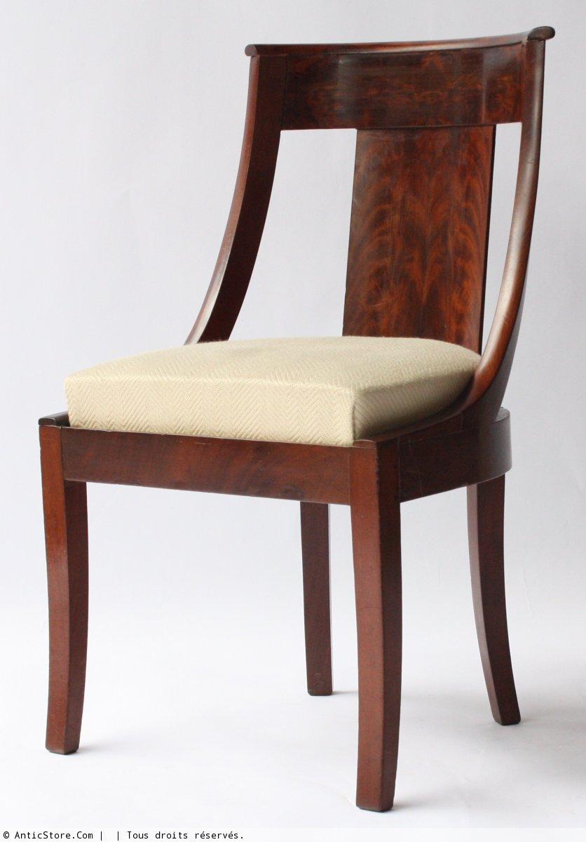 suite de six chaises gondoles xixe si cle. Black Bedroom Furniture Sets. Home Design Ideas
