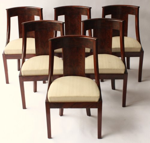 Set of six Gondolas chairs