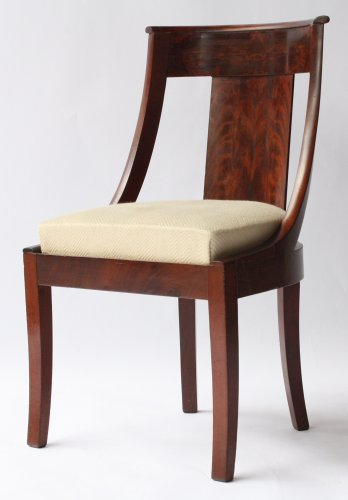 Set of six Gondolas chairs - Seating Style Restauration - Charles X