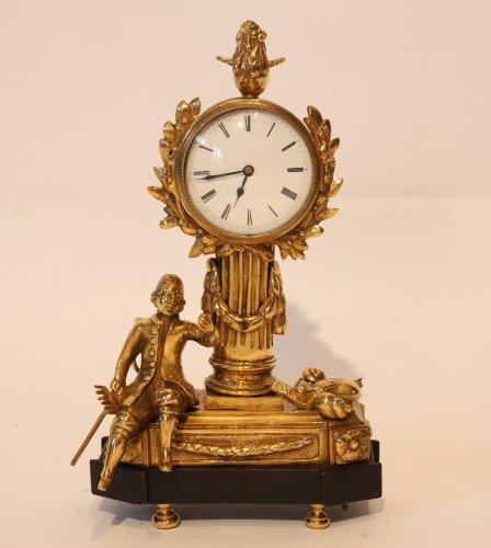 "A Louis XVI Gilt Bronze ""Jardinnier"" Clock  - Clocks Style Louis XVI"