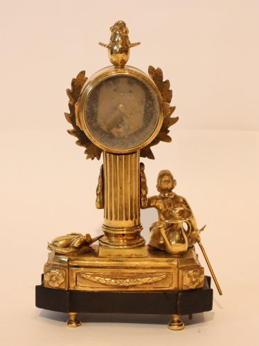 "Clocks  - A Louis XVI Gilt Bronze ""Jardinnier"" Clock"