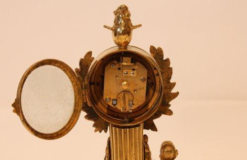 "A Louis XVI Gilt Bronze ""Jardinnier"" Clock  -"
