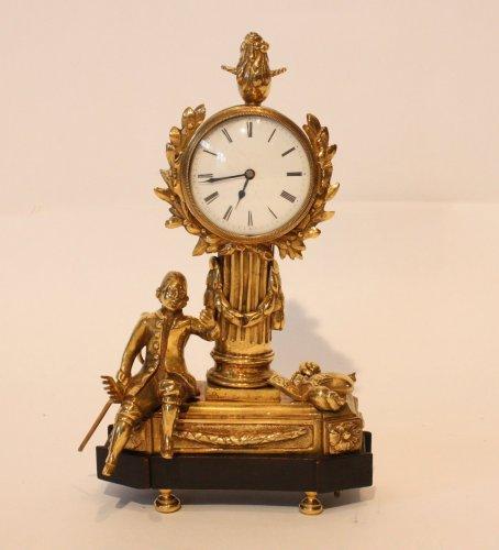 "18th century - A Louis XVI Gilt Bronze ""Jardinnier"" Clock"