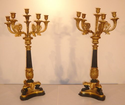 Pair of candelabra, late 19th century
