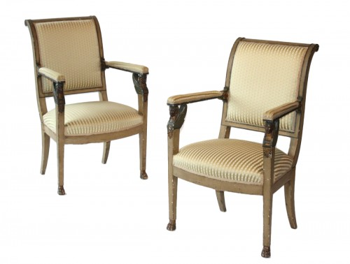 "Pair of chairs ""Retour d'Égypte"""