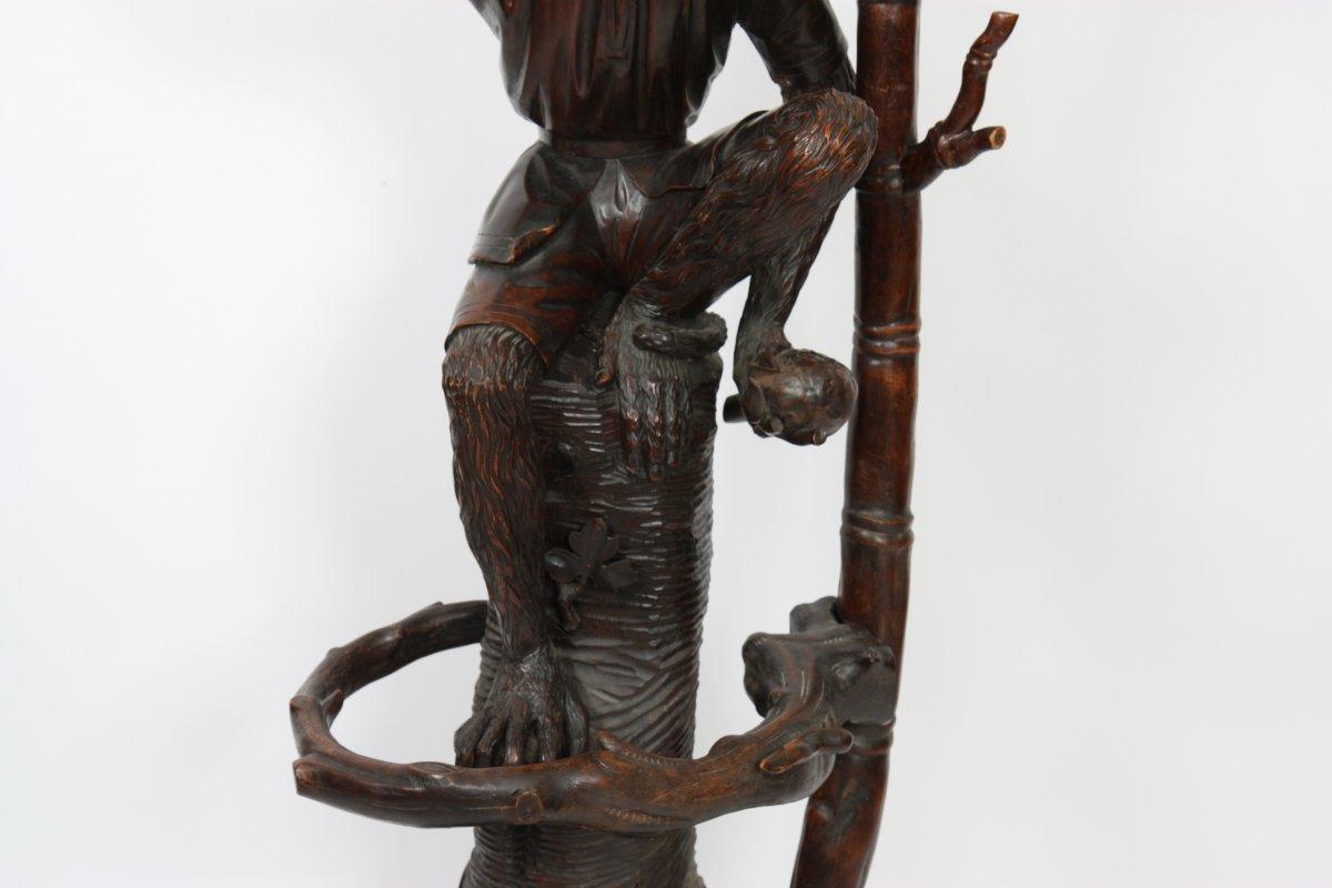 porte-manteau au singe, forêt noire fin xixe siècle - n.58076