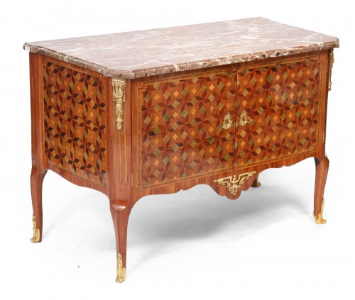 "Commode marquetée estampillée ""Chevalier"" (1700-1771)"