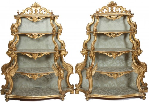 Venetian Pair of shelves, 19th century