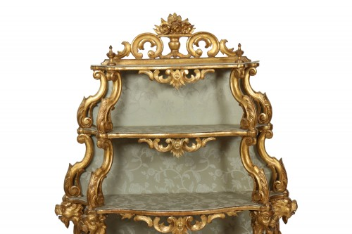 Venetian Pair of shelves, 19th century - Furniture Style