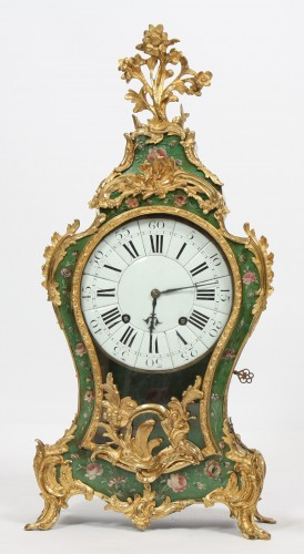 Louis XV cartel in European lacquer - Clocks Style