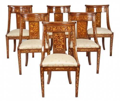Ensemble de six chaises gondoles hollandaises