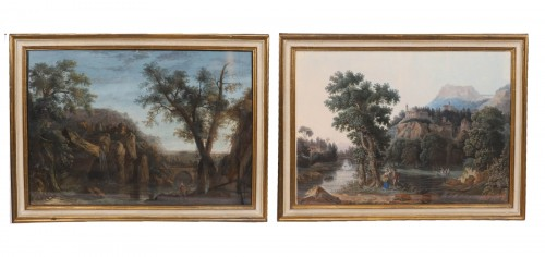 Pair of Italian gouaches - Jean-Baptiste POURCELLY (act. 1791-1802)