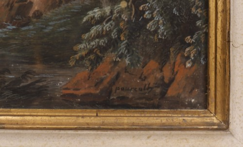 Paintings & Drawings  - Pair of Italian gouaches - Jean-Baptiste POURCELLY (act. 1791-1802)