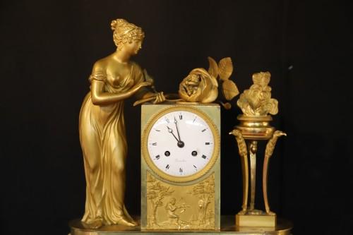 "Empire Clock ""Birth of the Duke of Bordeaux"". - Horology Style Empire"