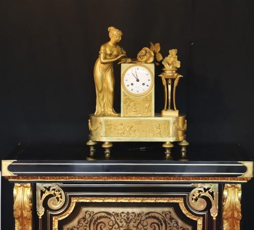 "Horology  - Empire Clock ""Birth of the Duke of Bordeaux""."