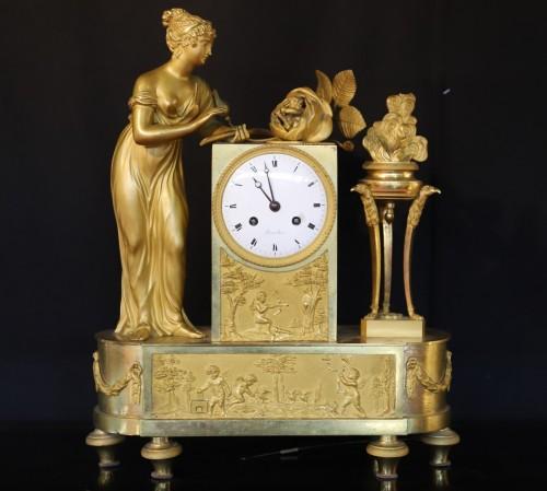 "19th century - Empire Clock ""Birth of the Duke of Bordeaux""."