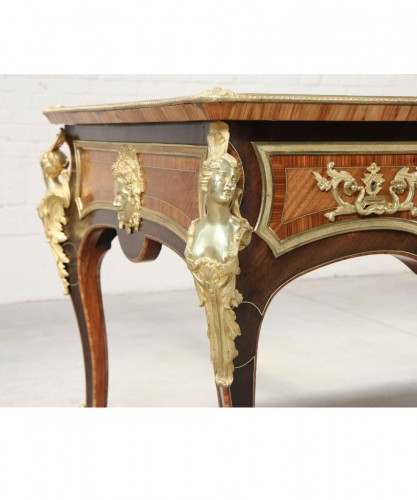 Furniture  - Inlaid double-sided Bureau plat
