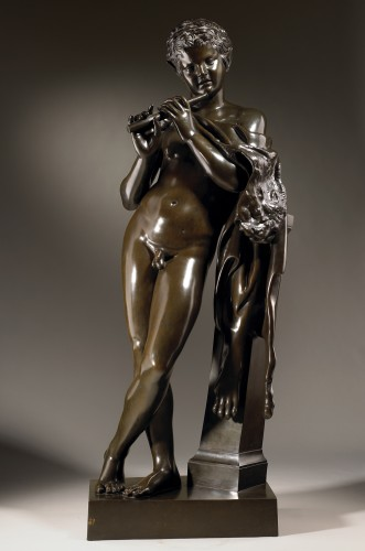 Faun playing the Flute - Sculpture Style