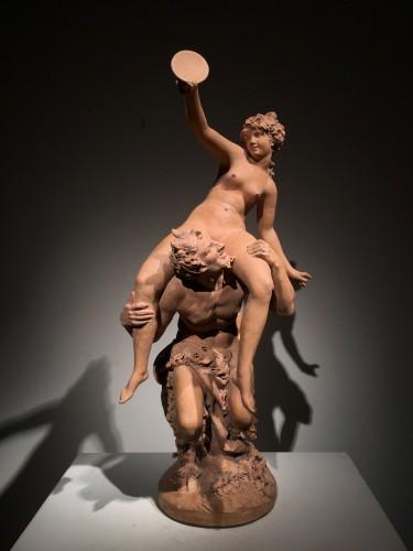 Sculpture  - A Satyr with Bacchante / Pan & Syrinx