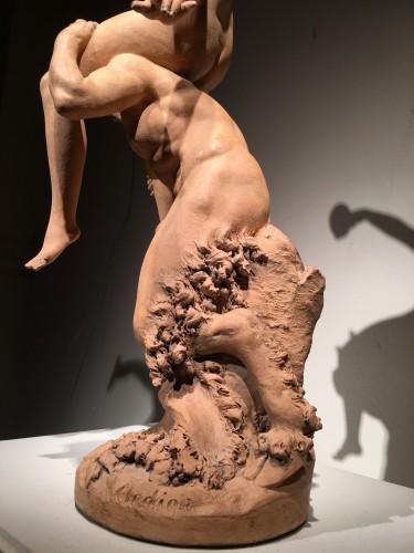 Antiquités - A Satyr with Bacchante / Pan & Syrinx