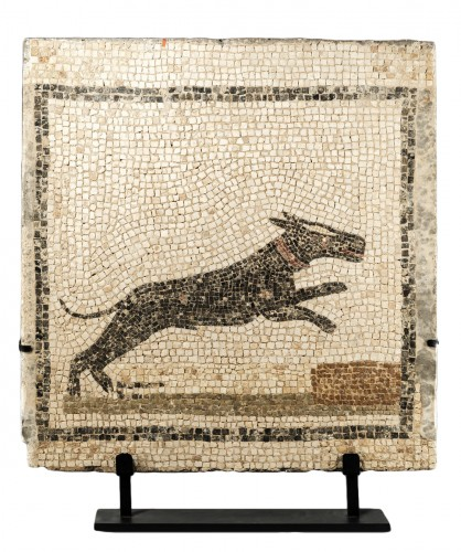 Roman Mosaic of a Dog