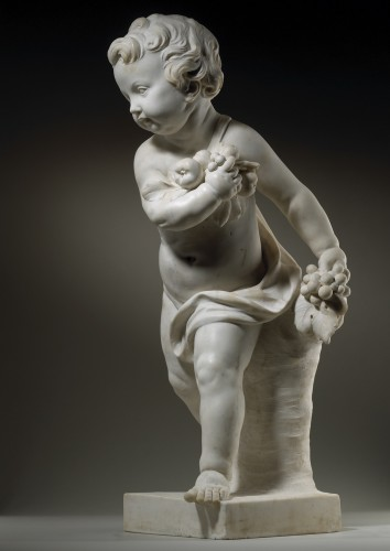 Pair of Marble Putti -