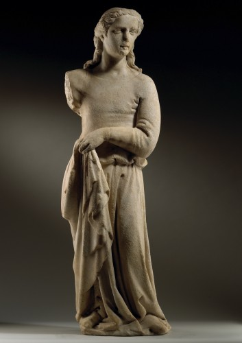 Draped Female Figure / Angel - Sculpture Style Middle age