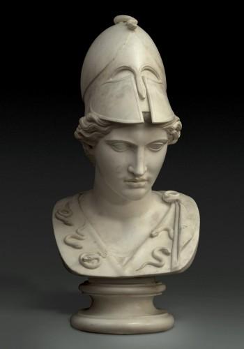 Monumental bust of Minerva / Athena Pallas - Velletri type - Sculpture Style