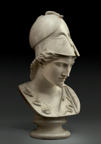 18th century - Monumental bust of Minerva / Athena Pallas - Velletri type